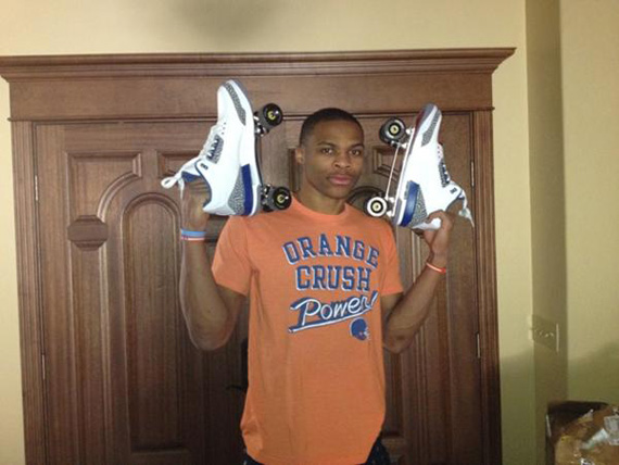 Air Jordan III: True Blue   Rollerskates Made For Russell Westbrook