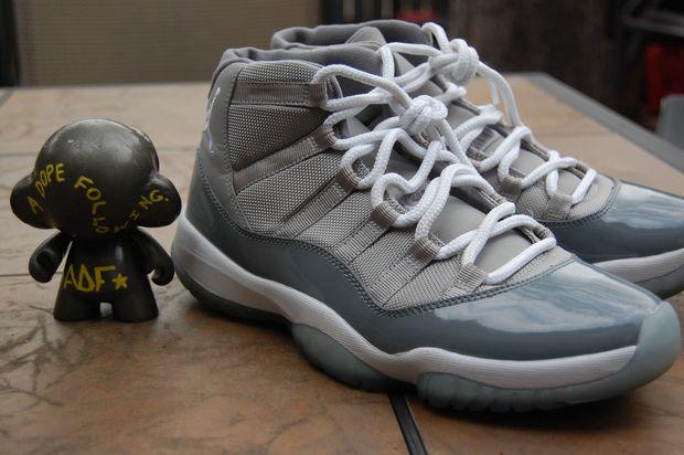 Air Jordan XI: Cool Grey - Mesh Sample - Air Jordans, Release ...