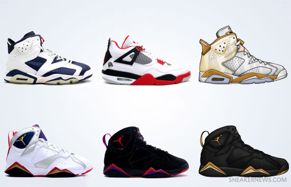Air Jordan Retro Fall 2012 Releases