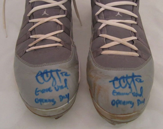 Air Jordan XI: Cool Grey   CC Sabathia Opening Day 2010 Cleats