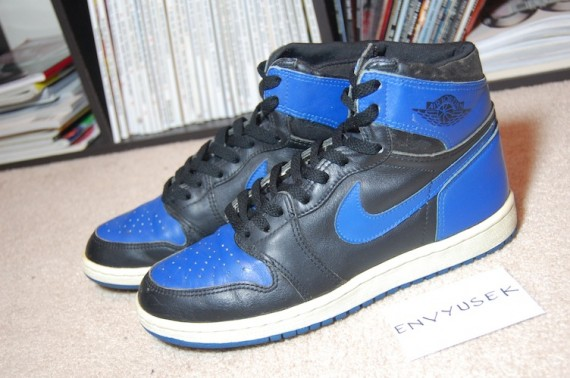 Air Jordan 1: Black   Royal   1985 Original   Available on eBay