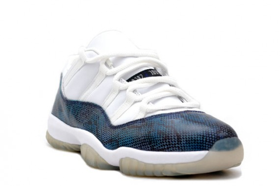 The Daily Jordan: Air Jordan XI Snake Low   White   Navy
