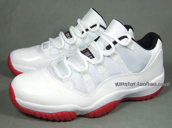 Air Jordan 11 Low: White   Black   Varsity Red   New Images