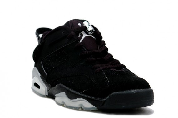 The Daily Jordan: Air Jordan VI Low   Black   Metallic Silver