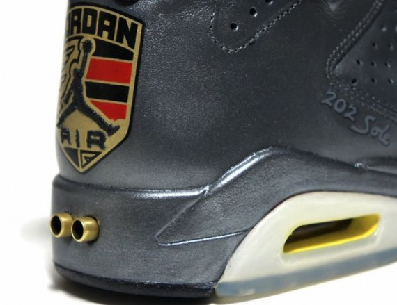 Air Jordan VI: Porsche 911   Metallic Silver Custom