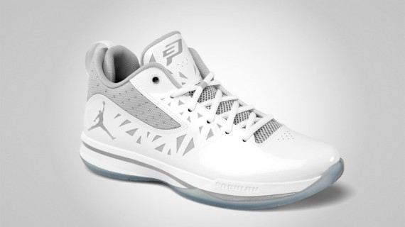 Jordan CP3.V: White   Metallic Silver