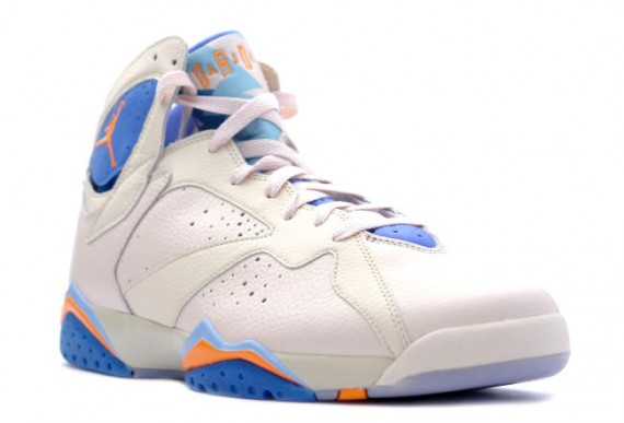 The Daily Jordan: Air Jordan VII   Pearl White   Bright Ceramic   Pacific Blue