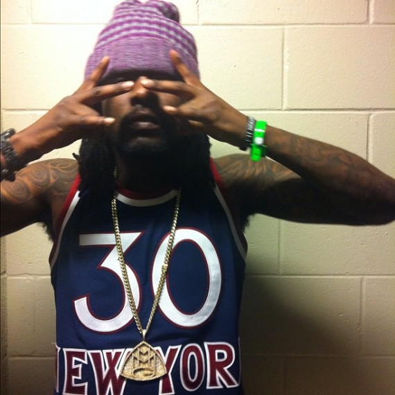 Wale Wears Air Jordan VI Olympic