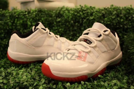 Air Jordan 11 Low: White   Varsity Red   Black   New Photos