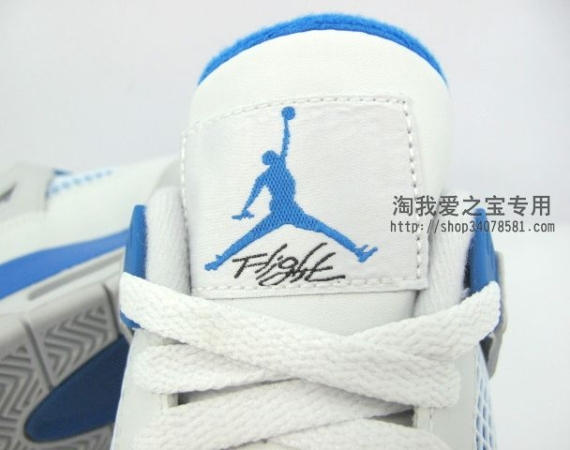 Air Jordan IV GS: Military Blue   New Photos