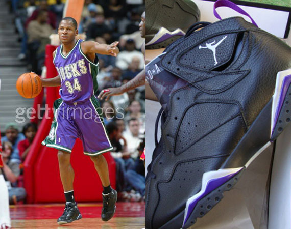 Air Jordan VII: Ray Allen Milwaukee Bucks PE