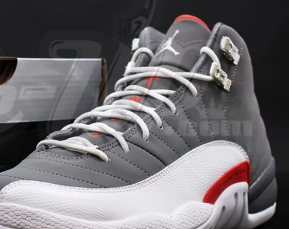 Air Jordan XII GS: Cool Grey   Team Orange | New Photos
