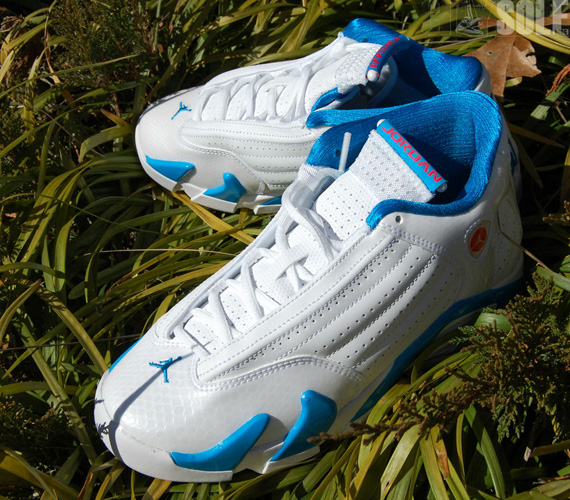 Air Jordan XIV GS: White   Siren Red   Neptune Blue