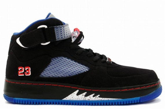 The Daily Jordan: Air Jordan Force V   Black   Varsity Red   Blue Ribbon   2008
