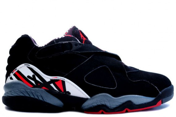 The Daily Jordan: Air Jordan VIII Low   Black   True Red   Del Sol