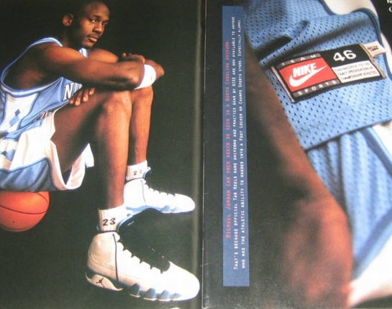 Vintage Gear: Air Jordan IX Powder Blue Print Ad