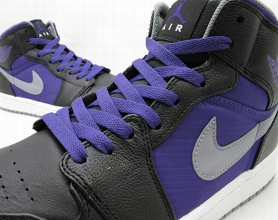 Air Jordan 1 Phat: Ripstop Nylon   Black   Purple