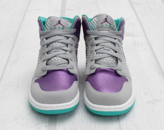 Air Jordan 1 Phat GS: Wolf Grey   Ultraviolet   New Green