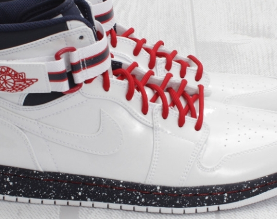 Air Jordan 1 Retro High Strap: White   Varsity Red