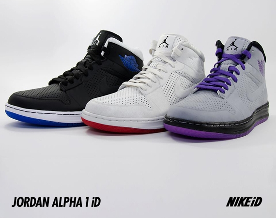 Air Jordan Alpha 1 iD: Translucent Sole Options