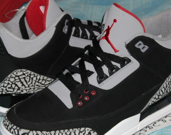 Air Jordan III: Black/Cement Nubuck Sample   Detailed Photos