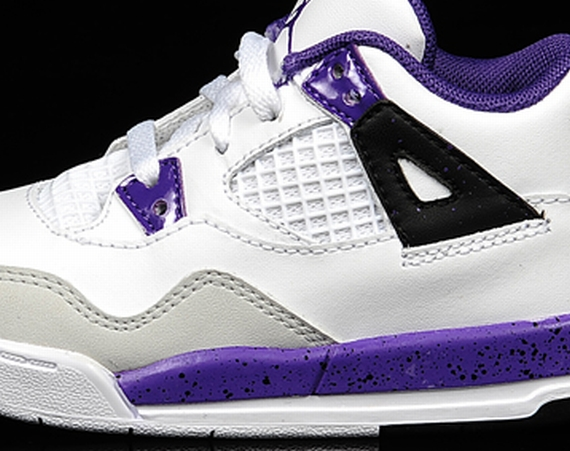 Air Jordan IV PS: White   Ultraviolet   Neutral Grey