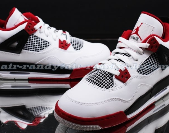 Air Jordan IV GS: White/Varsity Red   New Images