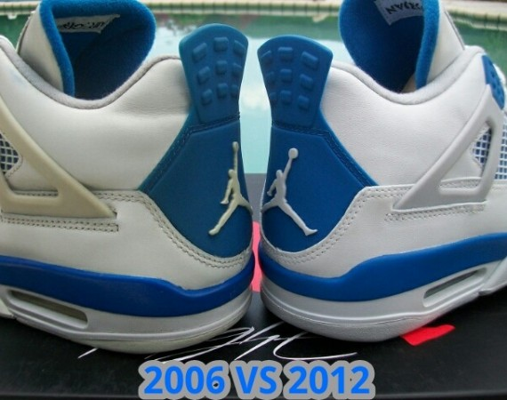 Air Jordan IV: Military   2006 vs. 2012