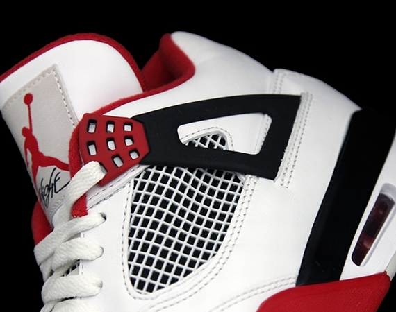 Air Jordan IV: White   Fire Red   Black