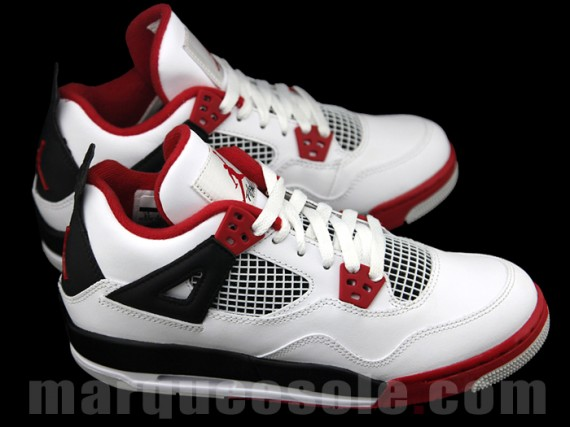 Air Jordan IV GS: White   Varsity Red