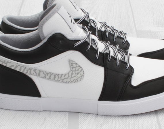 Air Jordan Retro V.1: Black   Wolf Grey   White