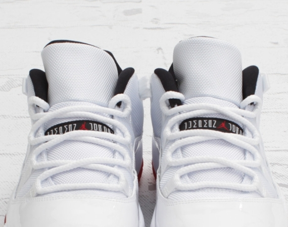 Air Jordan XI Low: White/Varsity Red   Arriving In Stores