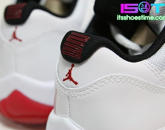 Air Jordan XI Low: White   Varsity Red | Detailed Images