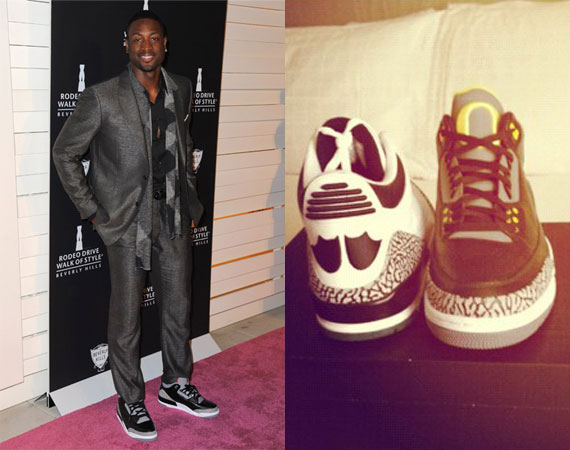 Dwyane Wade Shows Off Air Jordan III  Oregon Ducks  - Air Jordans ... 08bfecc12d