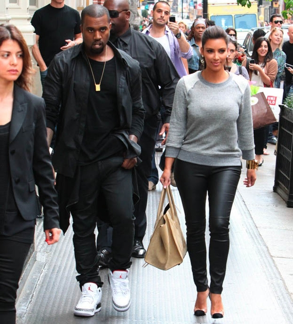 Kanye West in Air Jordan III White/Cement