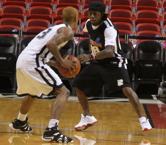 Lil Wayne in Air Jordan XI Low White/Varsity Red