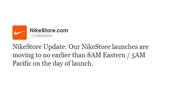 Nikestore Cancels Midnight Releases
