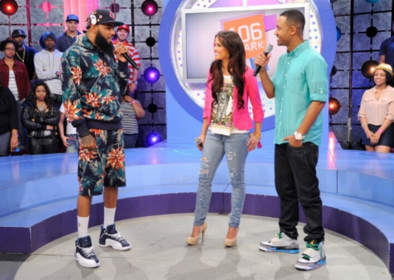 Stalley in Air Jordan XII Obsidian @ 106 & Park