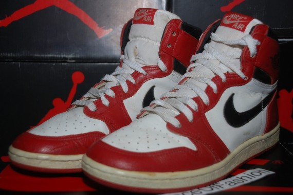 The Daily Jordan: Air Jordan 1 OG   White   Black   Red   1985