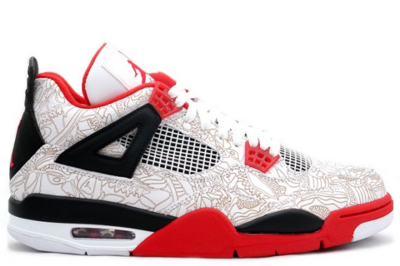 The Daily Jordan: Air Jordan IV Laser   White   Varsity Red   2005