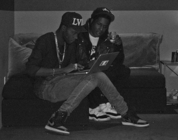 Theophilus London and A$AP Rocky in Air Jordans