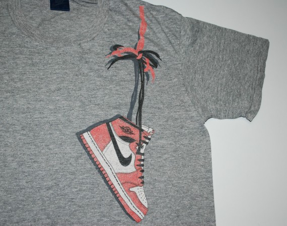Vintage gear air jordan 1 retro t shirt air jordans for Jordan royal 1 shirt