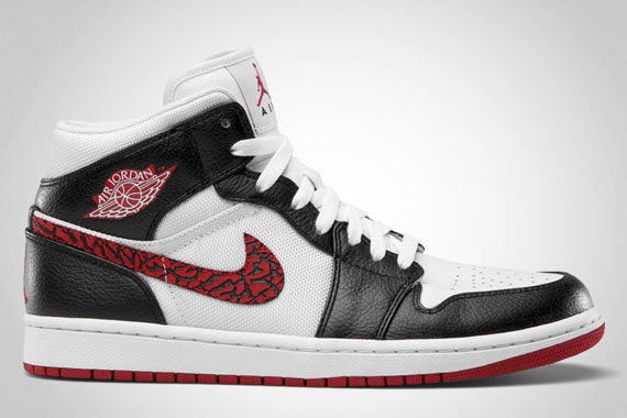 Air Jordan 1 Phat: White  Varsity Red  Black