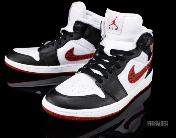 Air Jordan 1 Phat: White – Varsity Red – Black | Available