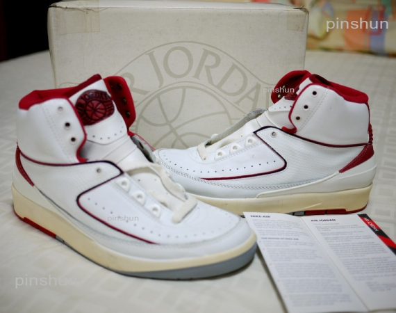 Air Jordan II: 1986 Made in Italy OG  White  Red | Detailed Photos