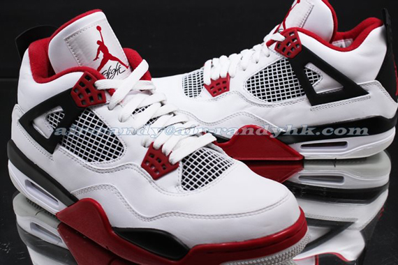 Air Jordan IV: White   Varsity Red   Black