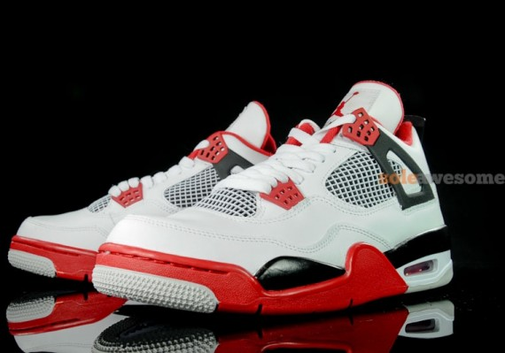 Air Jordan IV: White   Varsity Red   Black | New Photos