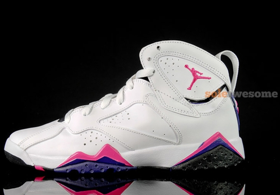 Air Jordan 7 GS: White – Purple – Pink