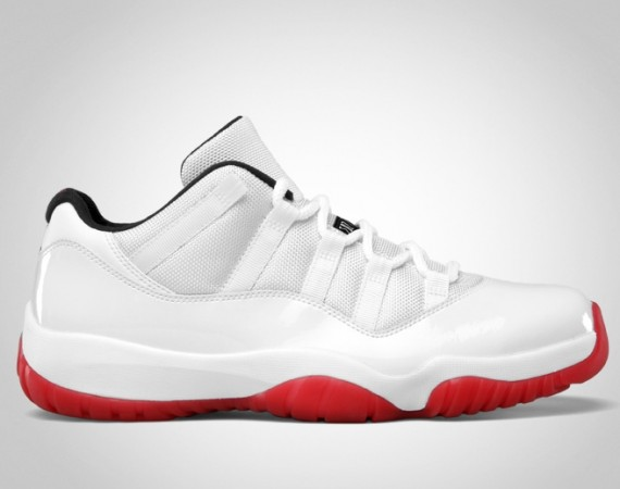 Air Jordan XI Low: White   Black   Varsity Red | Official Images