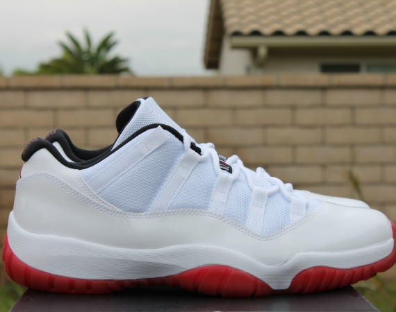 Air Jordan XI Low: White/Varsity Red   Release Reminder